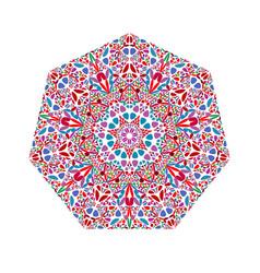 Colorful flower heptagon symbol - geometrical vector