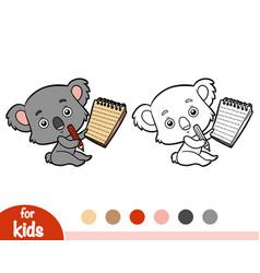 Coloring book koala vector