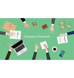 Company financials with vector