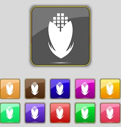 Corn icon sign Set with eleven colored buttons for vector image