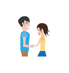 couple hands holding romantic image vector image