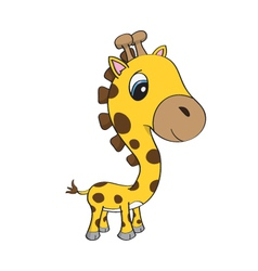 cute bagiraffe cartoon vector image