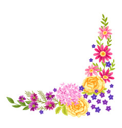 Decorative element with pretty flowers vector