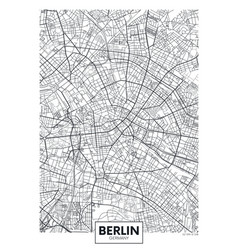 Detailed poster city map berlin vector