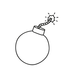 Doodle style bomb icon vector