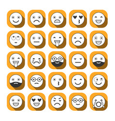 flat icons of emoticons smile with a beard vector image