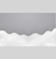 foam with soap bubbles top view vector image