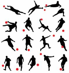 Football silhouettes vector
