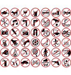 Forbidden icons vector