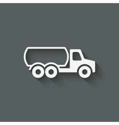 fuel truck symbol vector image