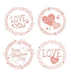 Garland Valentines day vector