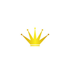 Gold crowns on white background vector