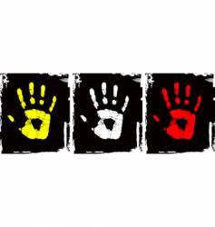 grunge hand set vector image