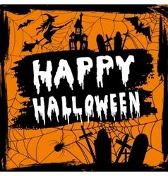 Happy Halloween hanwritten vector image