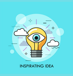 inspirating idea thin line concept vector image