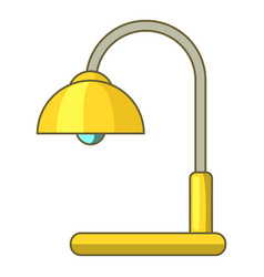 lamp table icon cartoon style vector image