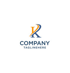 Letter k luxury swoosh corporate logo design vector