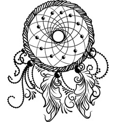 line art of a dreamcatcher vector image