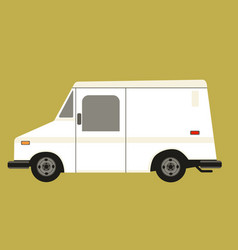 mail car flat style profile vector image