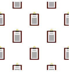 Medical order clipboard pattern seamless vector