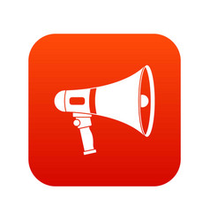 megaphone icon digital red vector image