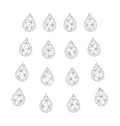 mesh drops icon vector image