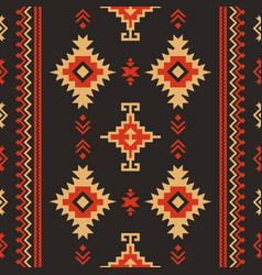 native fabric geometric design kilim ethnic vector image