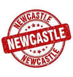 Newcastle red grunge round vintage rubber stamp vector