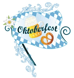 Oktoberfest decoration vector image