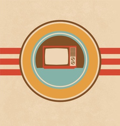 Old television vector