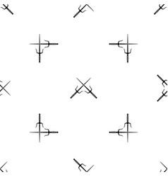 Pair of sai pattern seamless black vector