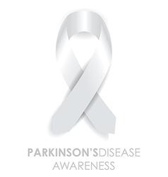 parkinsons disease ribbon vector image