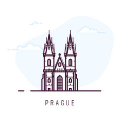 Prague city building vector