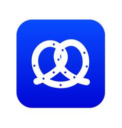 Pretzel icon digital blue vector