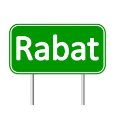 Rabat road sign vector image