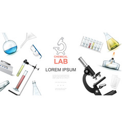 realistic chemical laboratory concept vector image