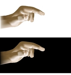 Realistic hand finger points vector