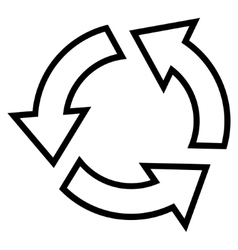 Recycle Outline Icon vector image