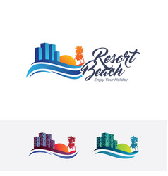 resort logo vector image