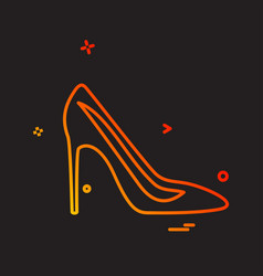 sandal icon design vector image