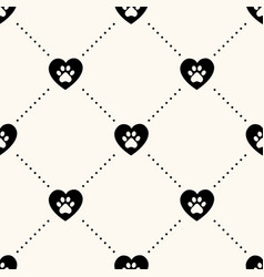 seamless pattern with pet footprints in vector image