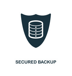 secured backup icon monochrome style design from vector image