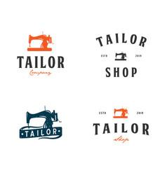 Set collection of tailor shop logo inspiration vector