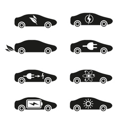 Set different fuel icons vector