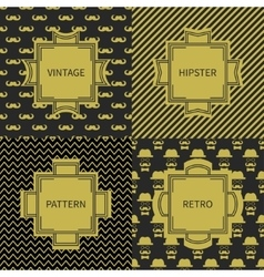 Set of gold hipster fashion geometric seamless vector image