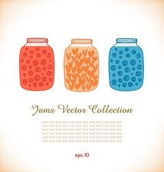 Set of jams icon vector