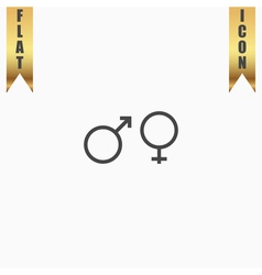 Sex symbol flat icon vector image