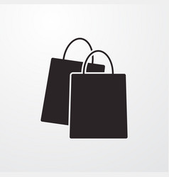 Shopping bag sign icon flat design style f vector