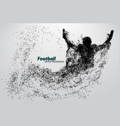 Silhouette of a football player from particle vector