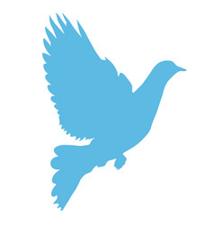 Silhouette of dove taking wings - peace symbol vector